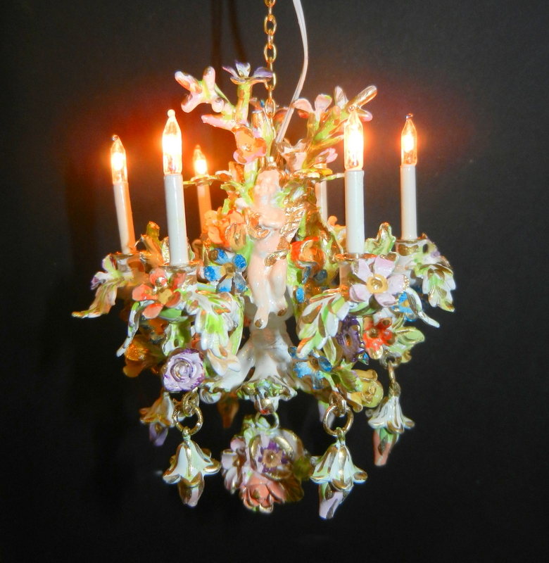 NEW Dresden china style chandelier.