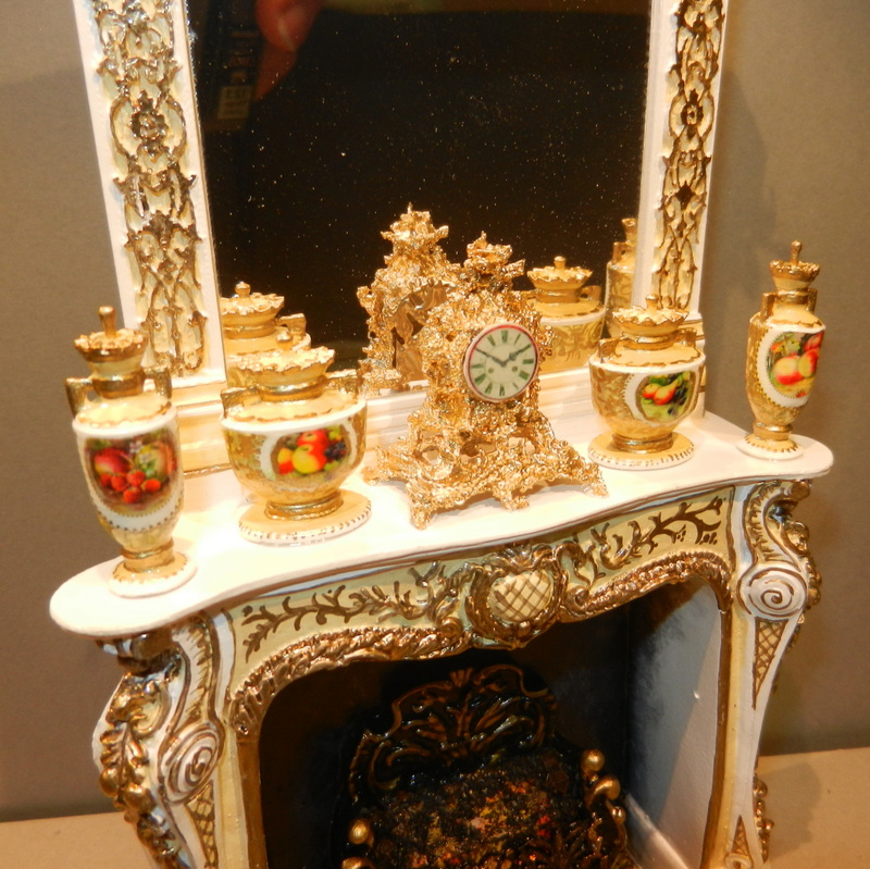Commission, Osbourne fireplace with Imperial Fruit urns.